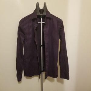 Tommy Hilfiger mens purple dress shirt